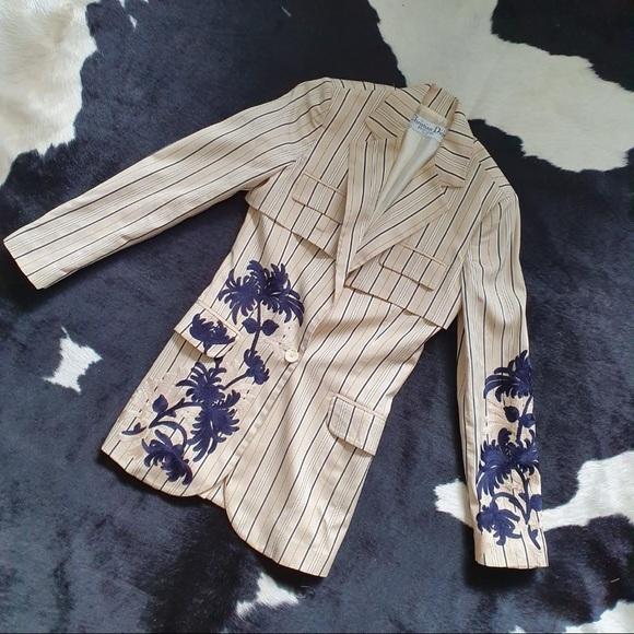 Dior Jackets & Blazers - Christian Dior Embroidered Ladies Jacket Blazer